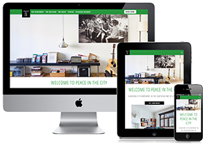 Responsive website project - Peace in the City